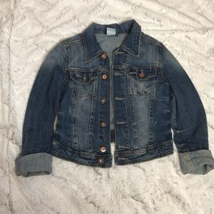 H&M cropped jean jacket size 2